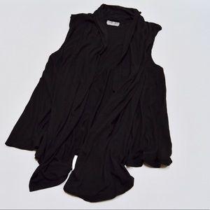 Michael Stars Tops - Michael Stars Black Sleeveless Open Vest Sz M